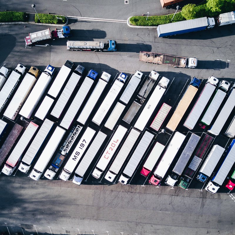 Camiones aparcados